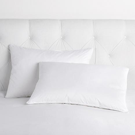 Concierge Collection 100% Cotton Quill-Less 2-pack Feather Pillows - S