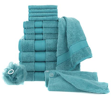 Concierge Collection 100% Turkish Cotton 15pc Towel Set