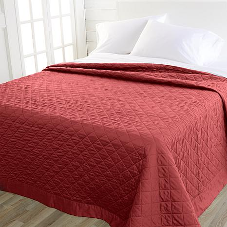 Concierge Collection 300TC 100% Cotton Sateen Quilted King Blanket