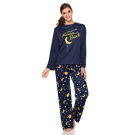 Concierge Collection Jersey Knit 2pc Message Pajama Set