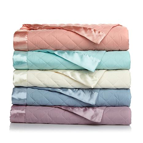 concierge lightweight down alt blanket wsatin trimfq