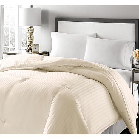 2 SIGNATURE COLLECTION 350 count King Pillowcases WHITE DAMASK STRIPE LINES
