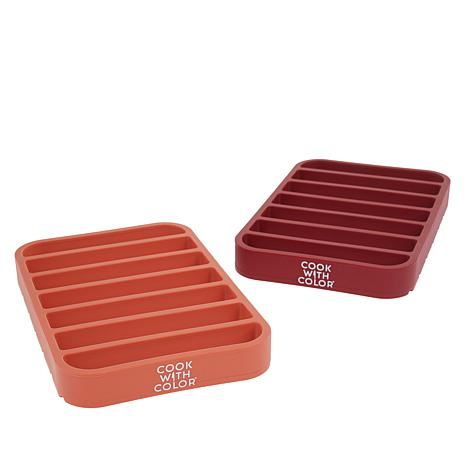 Cook with Color 2-pack Silicone Roasting Racks