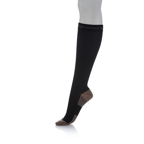 Copper Fit Knee-High Compression Socks 2-pack