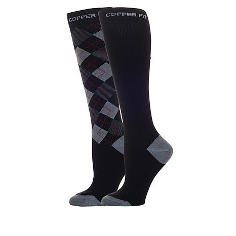 Copper Fit™ Men's Argyle Compression Socks 2-pack