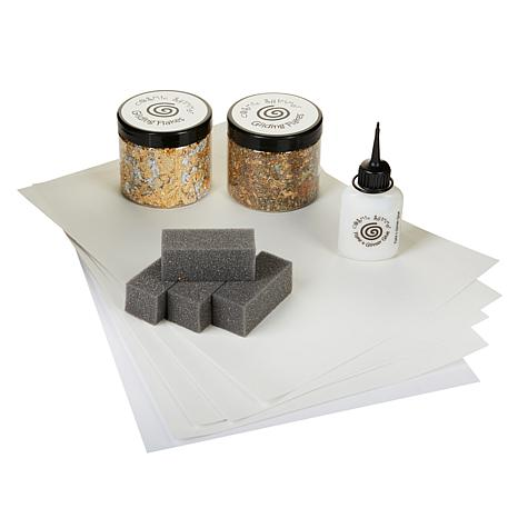 Cosmic Shimmer Gilding Flakes with Tools Starter Kit