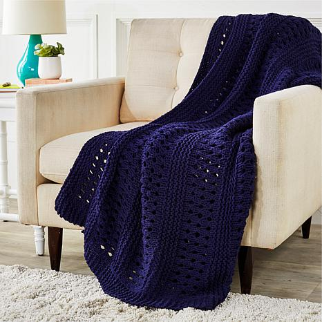 Country Living Home Collection Crochet Throw