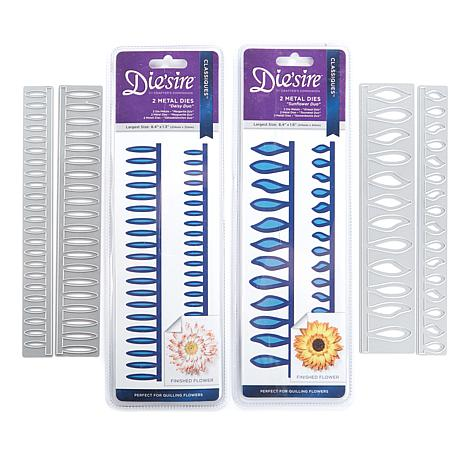 Crafter's Companion 2-piece Quilling Daisy and Sunflower Dies