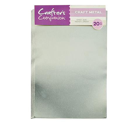 Crafter's Companion Adhesive Sheet 20-pack - Metal