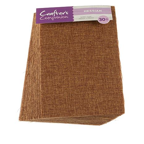 Crafter's Companion Adhesive Sheet 30-pack - Burlap
