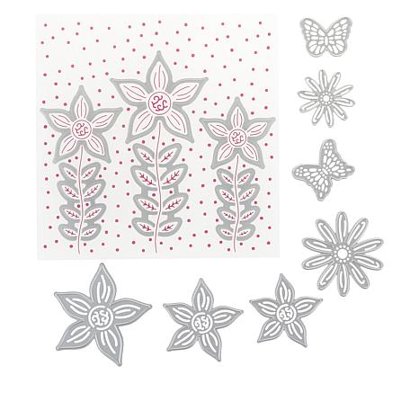 Crafter's Companion Blooming Flowers Chloe Cut and Emboss Set