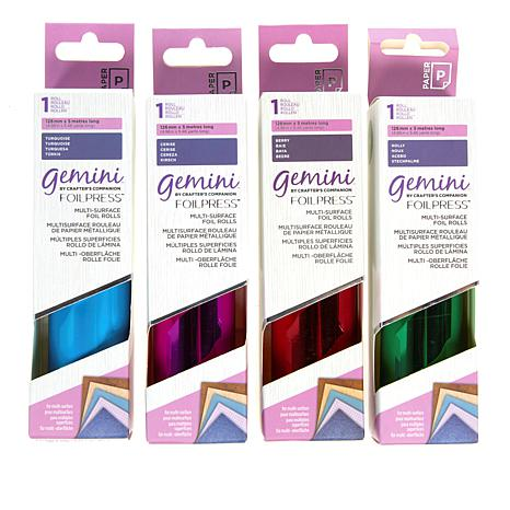 Crafter's Companion Gemini 4-pack of Multi Surface Foil Rolls