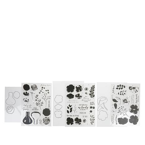 Crafter's Companion Gemini Floral Spray Layering Stamp and Die Set