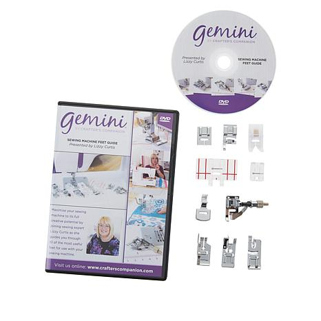 Crafter's Companion Gemini Sewing Feet and DVD Set