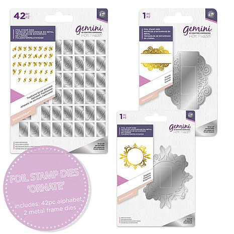*NEW 2019* Gemini Monogram Foil Stamp Dies Alphabet by Crafters Companion