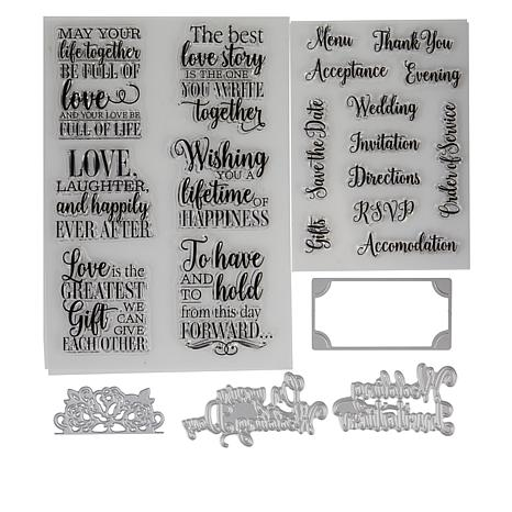 One Size Silver Sara Signature Garden of Love-Metal Die-Rose Place Card