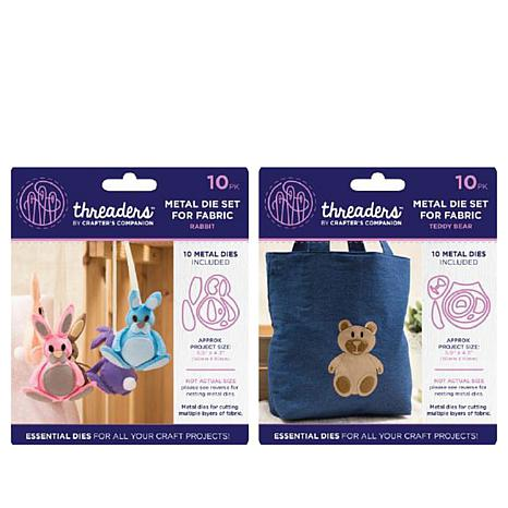 Crafter's Companion Threaders Metal Die Set - Rabbit and Bear