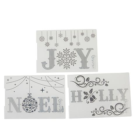 Crafter's Companion Traditional Christmas Words Cut and Emboss Folders