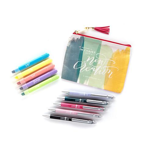 Creative Devotion Pouch, Pens and Highlighters Kit