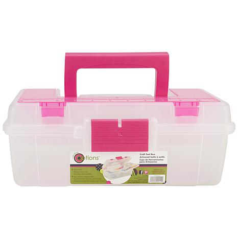 Creative Options Tool Box Organizer - Natural/Magenta