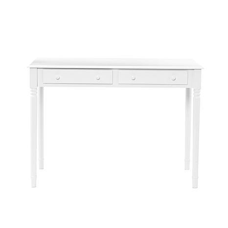 crisp white 2 drawer writing desk 6408545 hsn. Black Bedroom Furniture Sets. Home Design Ideas