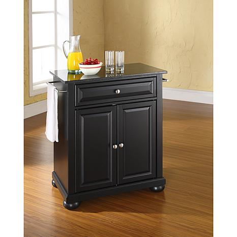 Crosley Alexandria Granite Top Portable Kitchen Island