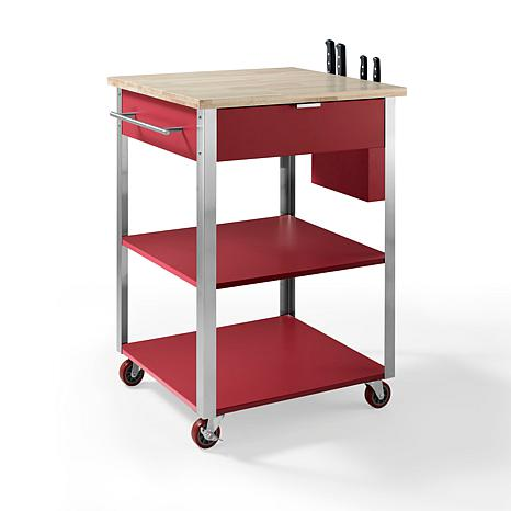 Crosley Culinary Prep Kitchen Cart Red 7743620 Hsn