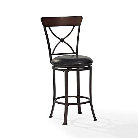 Crosley Furniture Pruitt Swivel Counter Stool Black