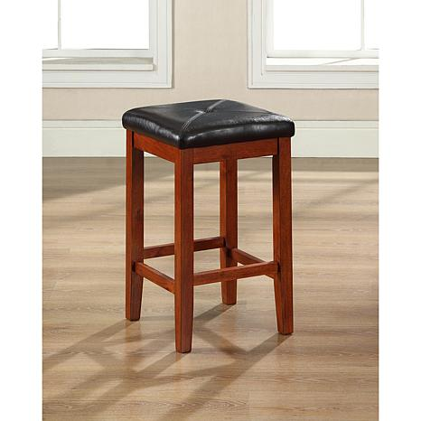Crosley Furniture Upholstered Square Seat 2pc 24 Bar Stool Set