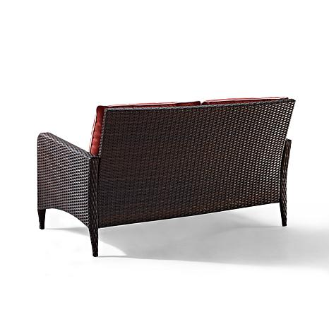 ... Crosley Kiawah Outdoor Wicker Loveseat   Sangria ...