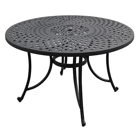 "Crosley Sedona 46"" Cast Aluminum Table - Charcoal Black"