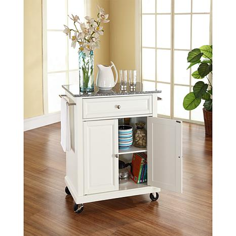 Merveilleux Crosley Solid Granite Top Portable Kitchen Cart   White   7743747 | HSN