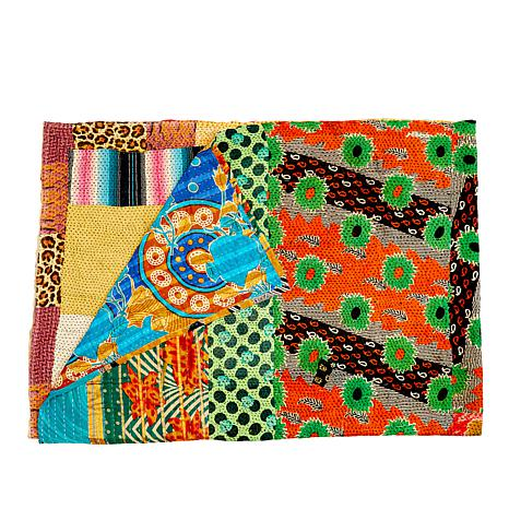 Curations 100% Cotton One-of-a-Kind Kantha Throw