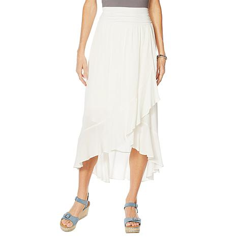 Curations Gauze Wrap Skirt