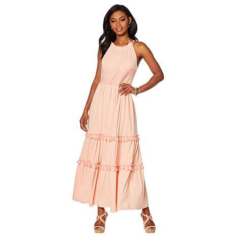 9f46e22d34af Curations Maxi Dress with Lace Trim - 8853349