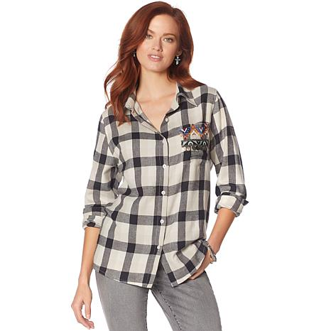 Curations Novelty Plaid Shirt