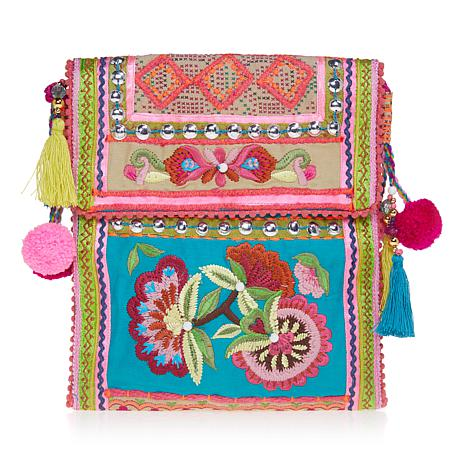 Curations Statement Embroidered Bag