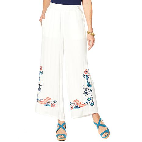 Curations White Palazzo Pant with Pockets