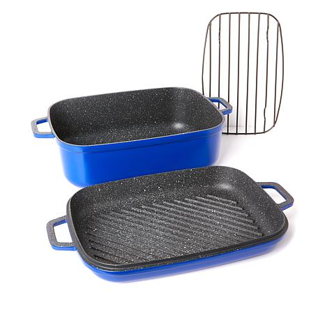 Curtis Stone Dura-Pan Nonstick 8.5 qt. Roaster with 3.5 qt. Grill Lid