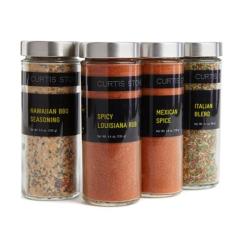 Curtis Stone Flavors of the World 4-pack 4 oz. Jar Spice Set