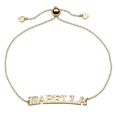 Curved Plate Adjustable Name Bracelet