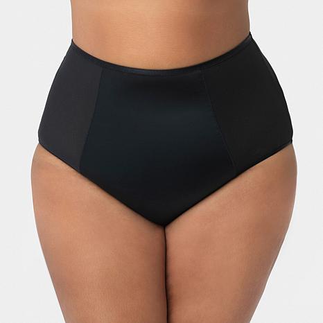 Curvy Couture Diamond Net High-Waist Panty