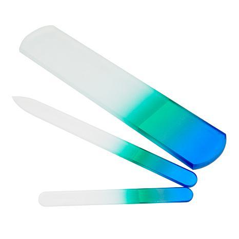 Czech Glass Nail Files 3-piece Set - Blue