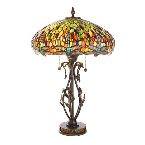 Dale Tiffany Dragonfly with Jewel Tiffany-Style Lamp