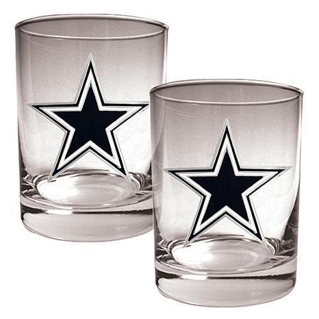 Dallas Cowboys 2pc Rocks Glass Set