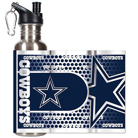 Dallas Cowboys Stainless Steel Water Bottle With Metallic Graphics