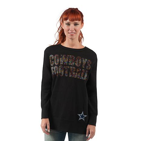 639b90ea Dallas Cowboys Women's Superstar Sweatshirt with Rhinestones