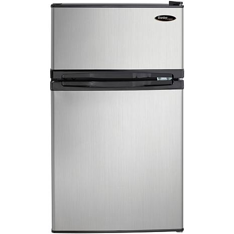 Danby 3.1 Cu. Ft. Refrigerator/Freezer - Black/Steel