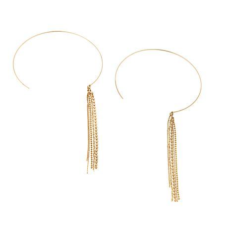 "Danielle Nicole ""Selena"" Fringed Hoop Earrings"