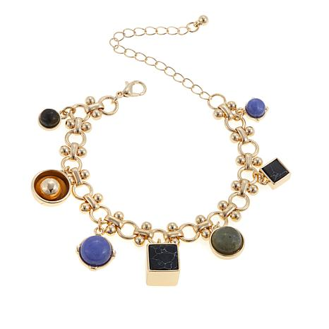 "Danielle Nicole ""Theo"" Gem-Color Dangle Bracelet"